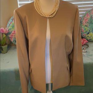 Preston & York caramel color open front jacket